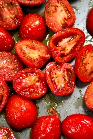 Tomatoes ready for the roaster