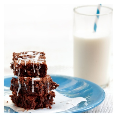 Cute striped brownies with cuter striped straw