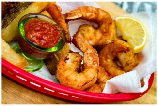 Fried Shrimp and Homemade Cocktail Sauce