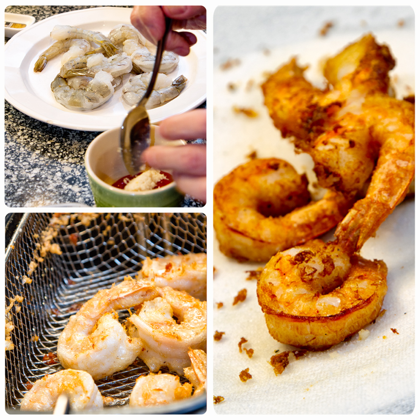 Frying Shrimp Process