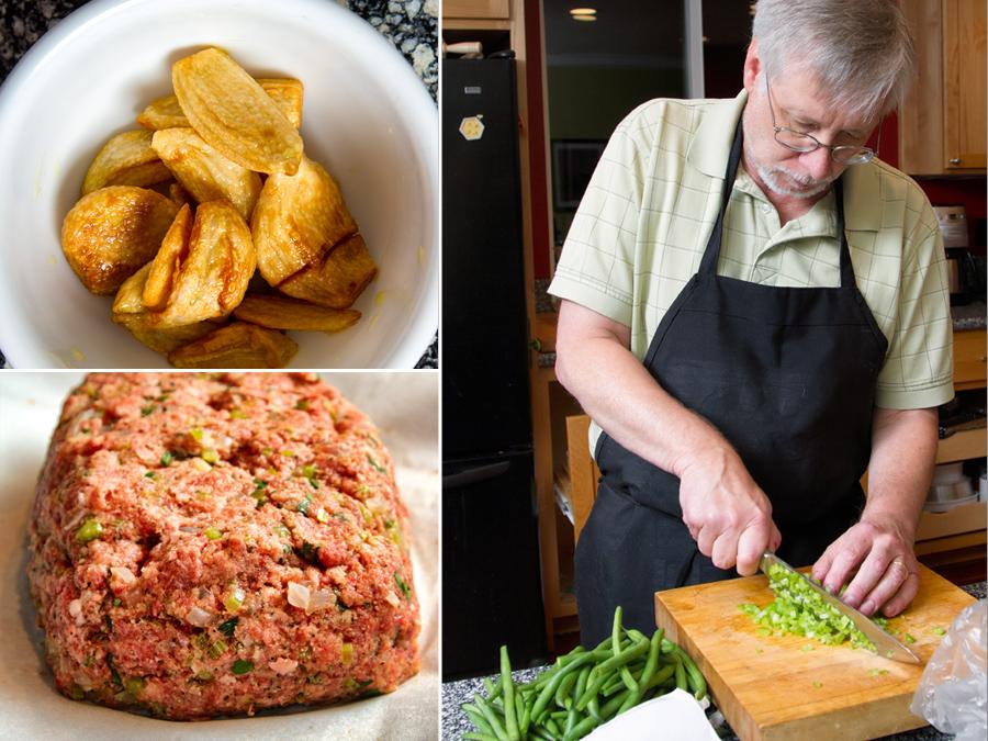 Making preparations for Meatloaf
