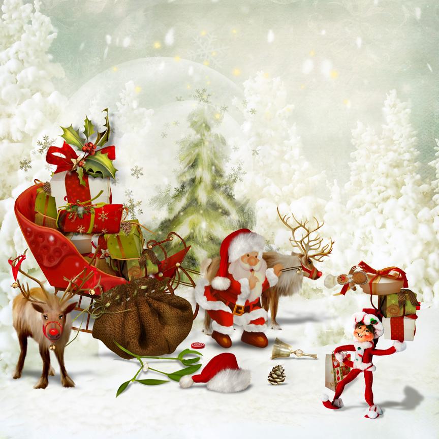 "Edmond elf ""Helps"" Santa"