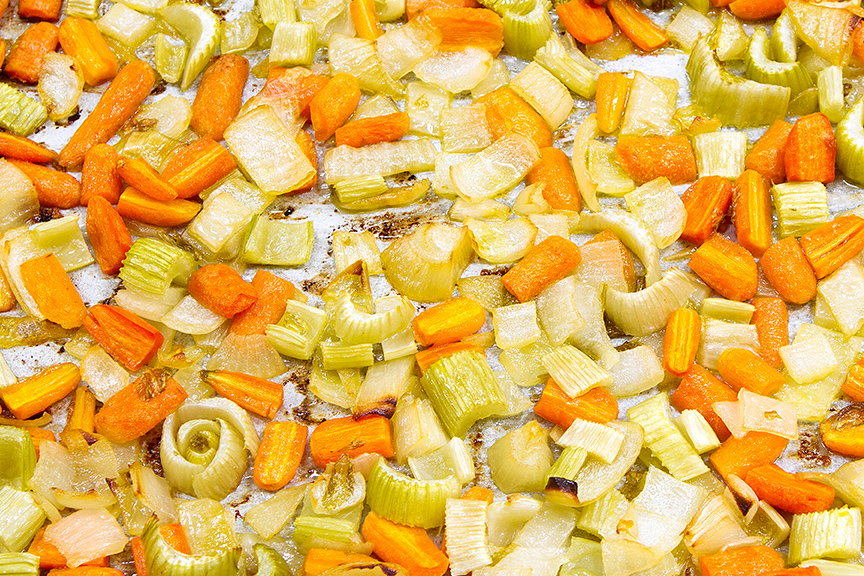Oven roasted mirepoix
