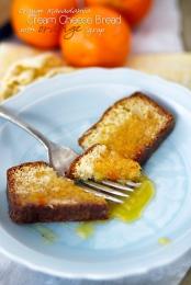 Orange Macadamina Cream Cheese Bread with Orange Syrup