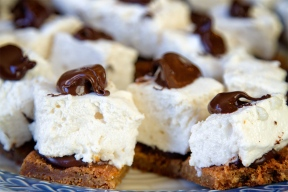 S'more Cookies with Homemade Marshmallows