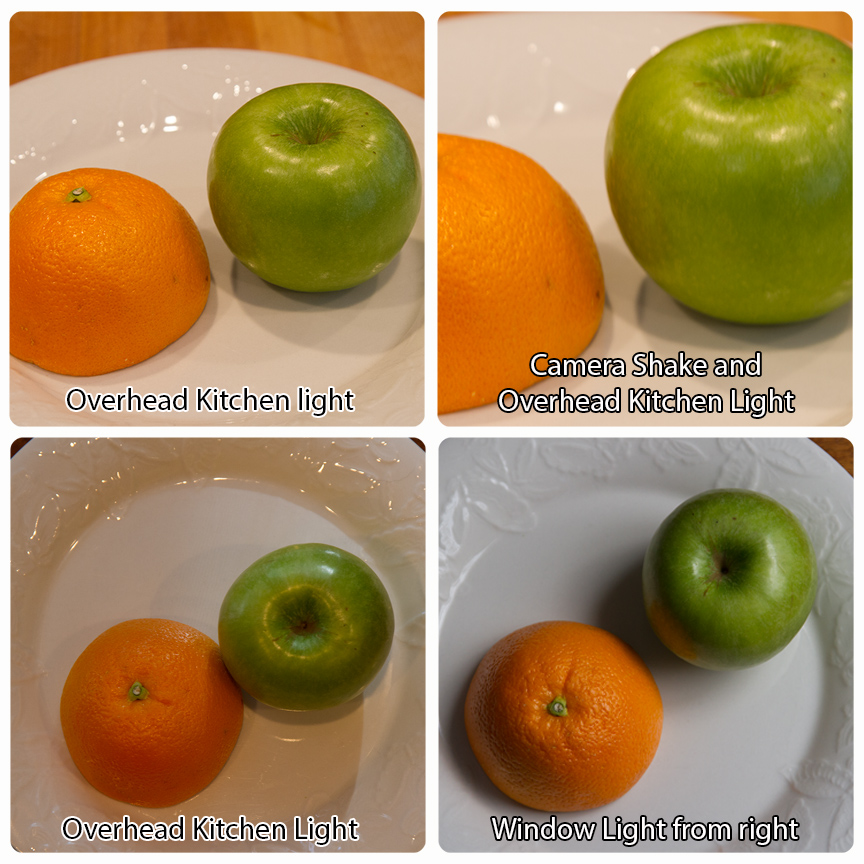 Kitchen Light vs. Window Light