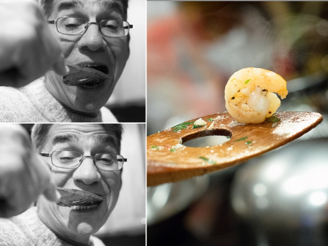 The Sous Chef Tastes the Shrimp