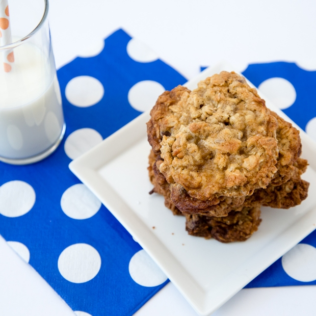 Oatmeal, chocolate chip, coconut and pecan pantry cookies