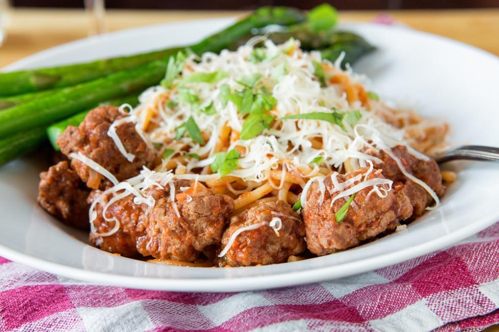 Spaghetti with homemade sausage