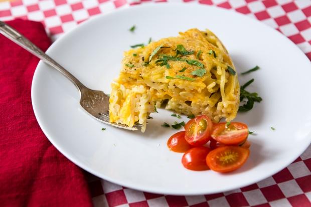Spaghetti & Cheese Snack Pie