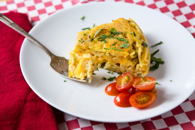 Spaghetti & Cheese Snack Pie