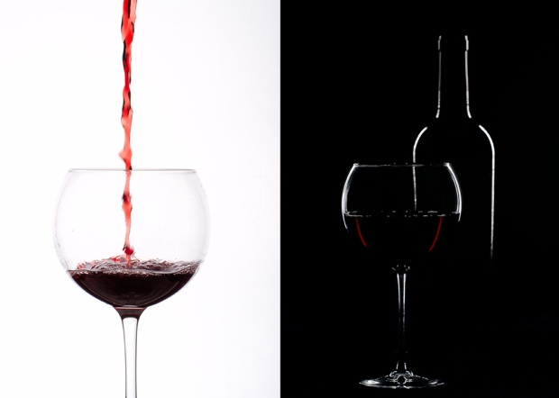 wine side by side