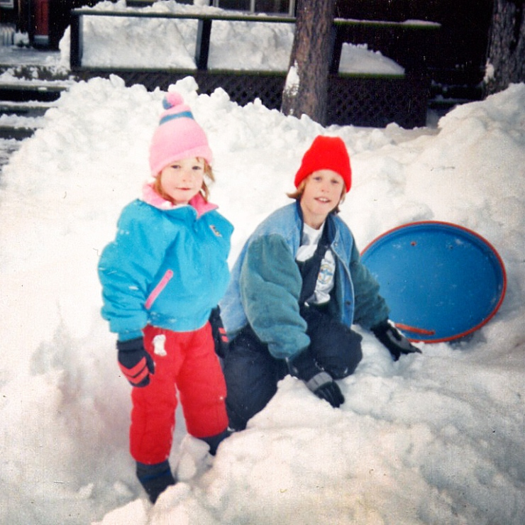 Aly and her brother at Tahoe