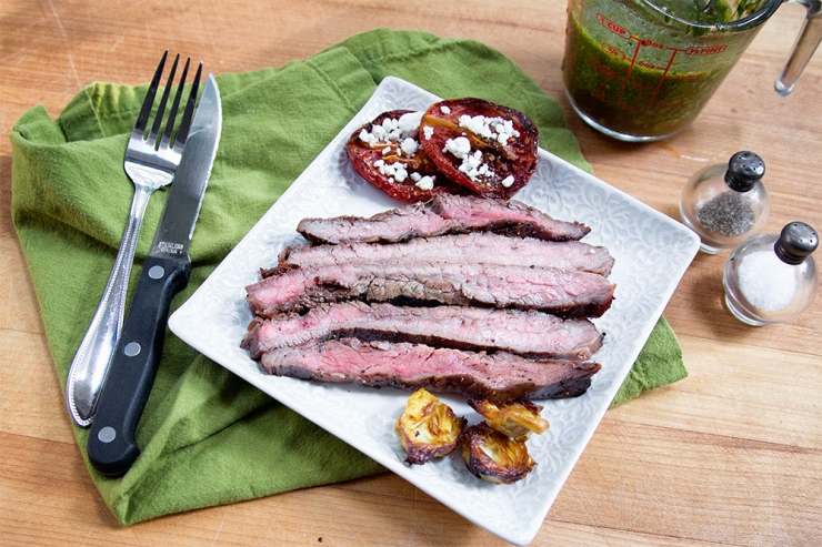 Flank Steak without Chimichurri Sauce
