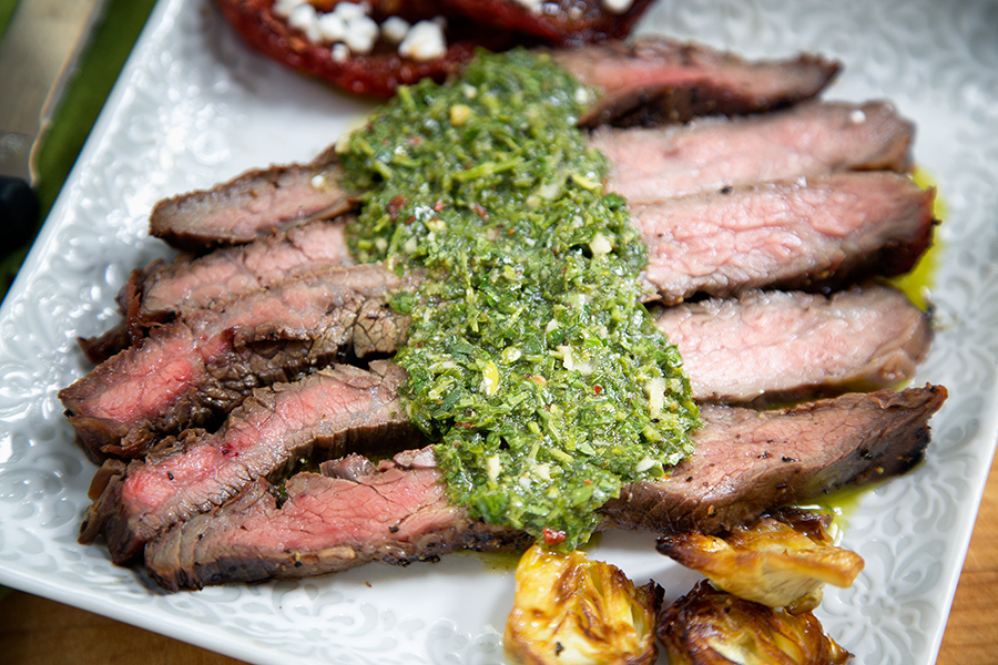 Steaks and Mistakes or This is the best Flank Steak and Chimichurri ...