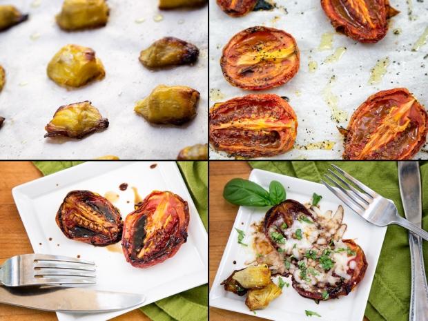 Successful roasted tomatoes and roasted artichoke hearts