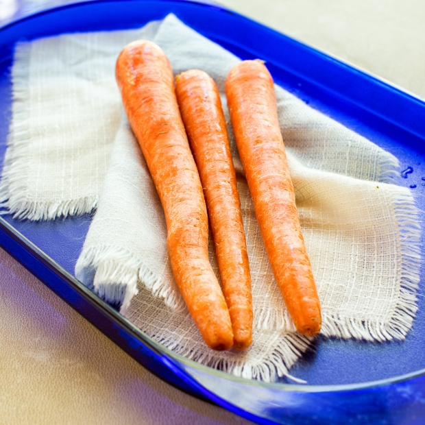 Carrots waiting to be shredded