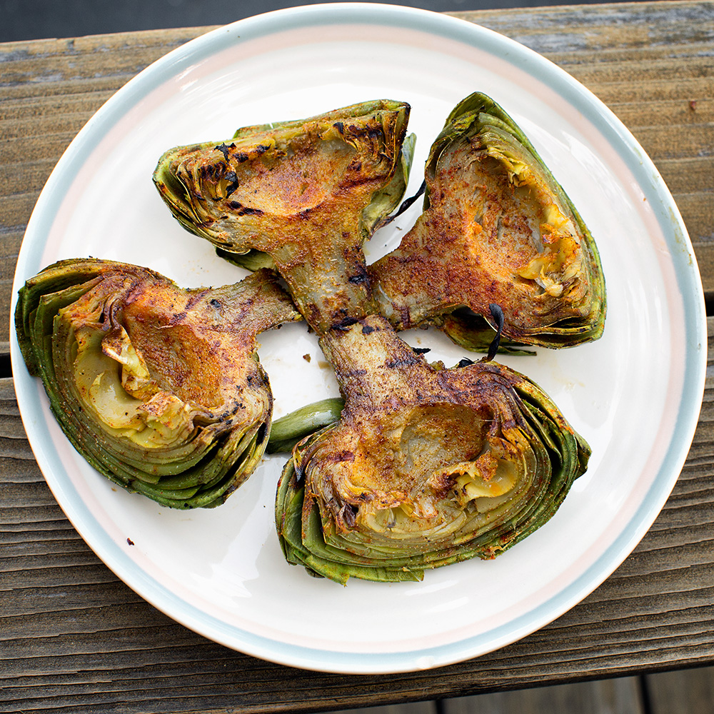Badly styled artichokes