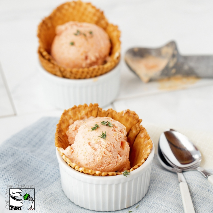 Peach and Thyme Gelato for two