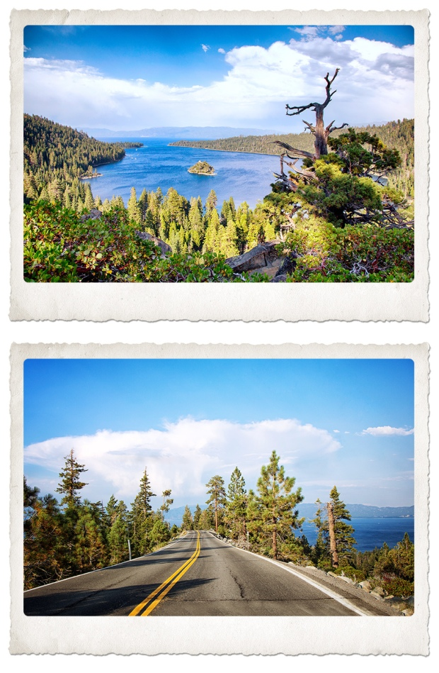 Beautiful Emerald Bay and the breathtaking road to Emerald Bay