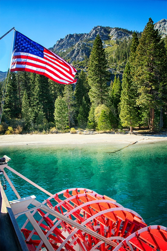 View from the Paddle Wheel Tahoe Queen