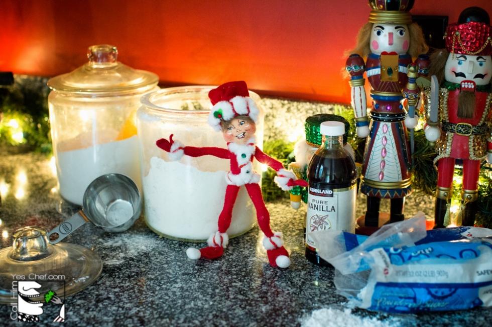 Edmond Elf helps make the cookies