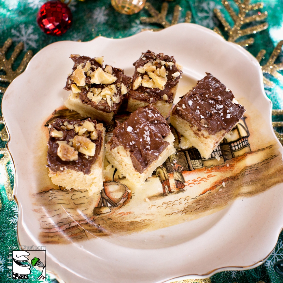 A family heirloom plate and heirloom shortbread cookies