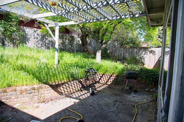 Before: back yard April, 2013
