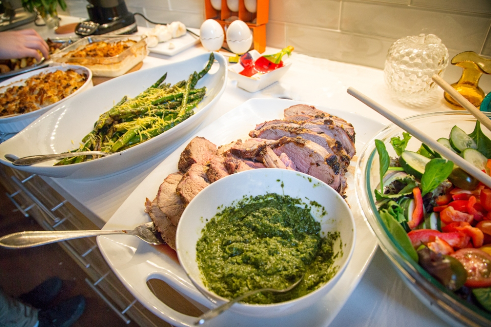Lamb with chimichuri sauce
