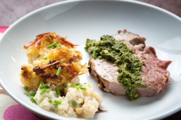 Cauliflower Gratin with lamb.