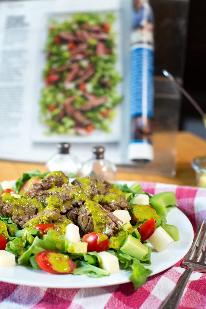 Our salad and Sunset salad
