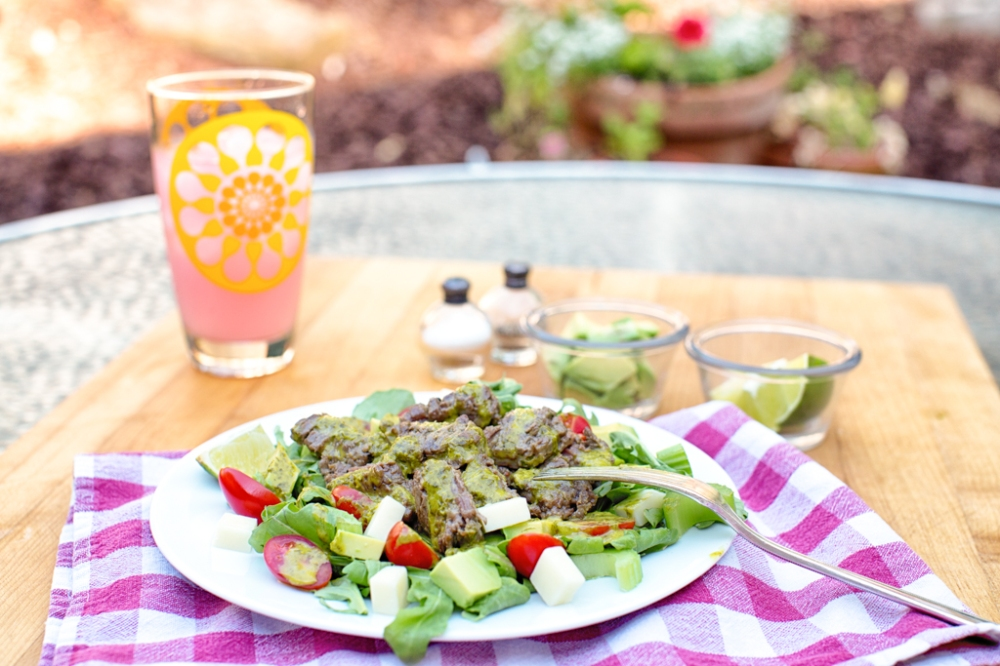 A great patio meal with a glass of lemonade or some white wine or beer