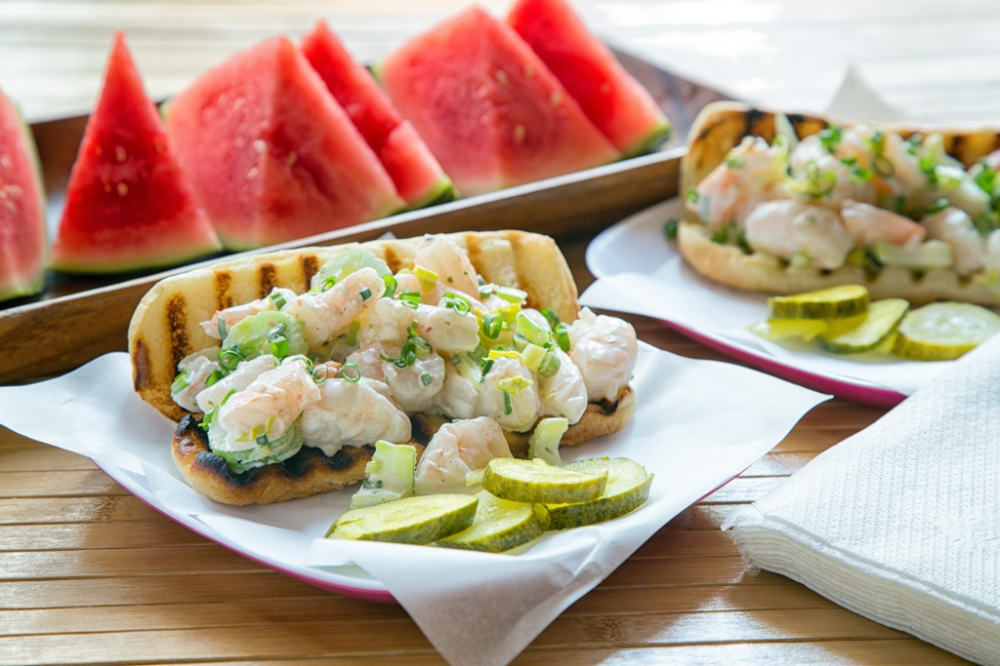 Shrimp rolls with Watermelon