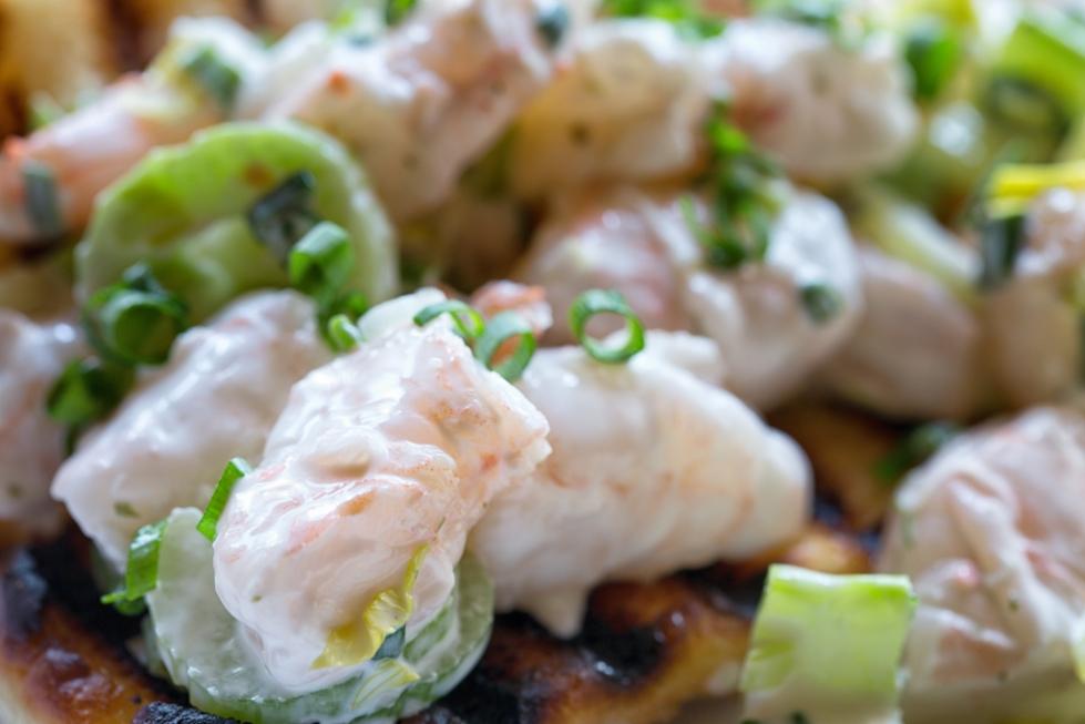shrimp, celery, scallions, mayo