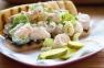 Shrimp Rolls with deli pickles