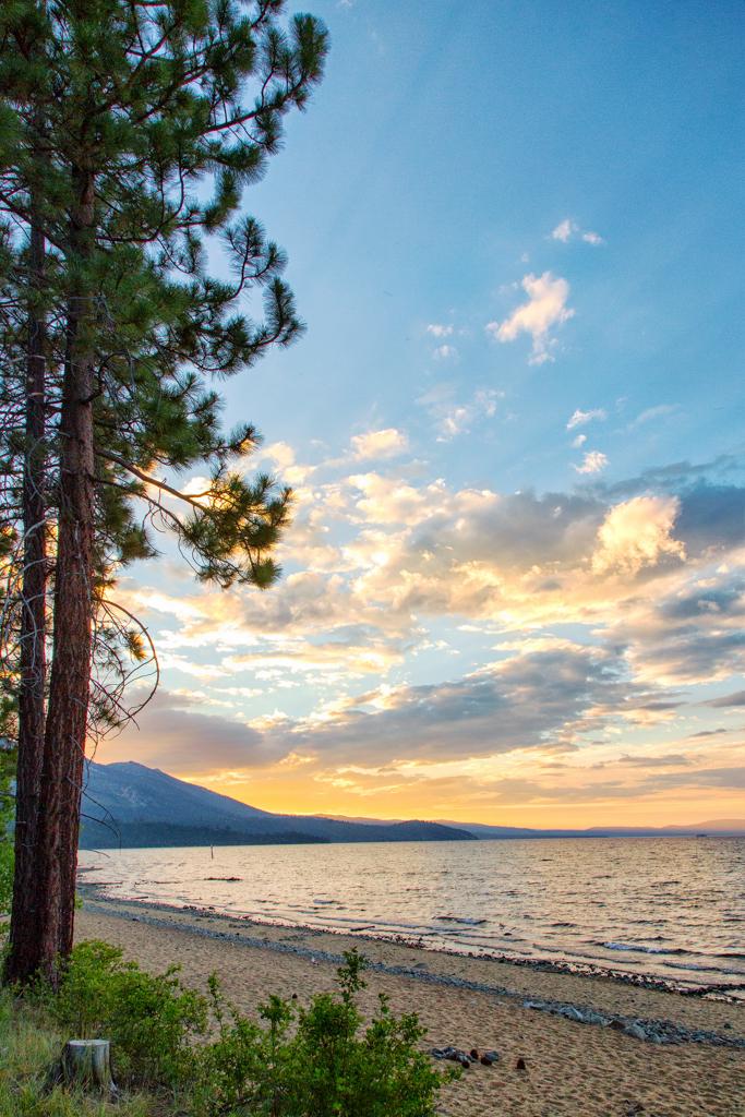 Beautiful evening on Lake Tahoe