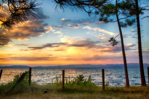 Beautiful sunset on Lake Tahoe