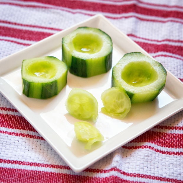 Scooped out Cukes