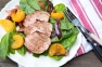 Grilled pork loin salad