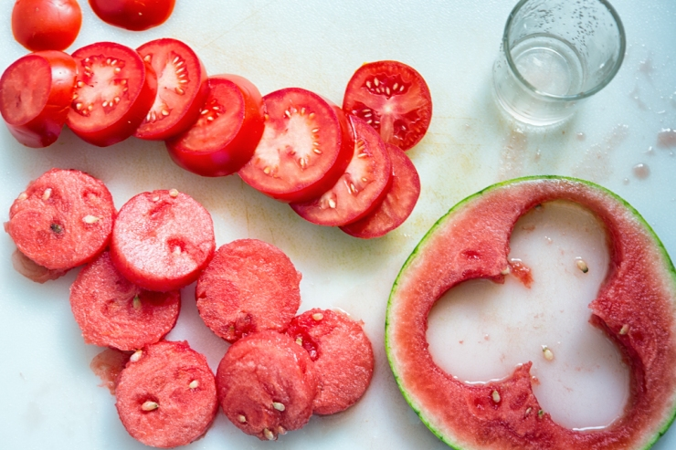 Tomato and watermelon rounds
