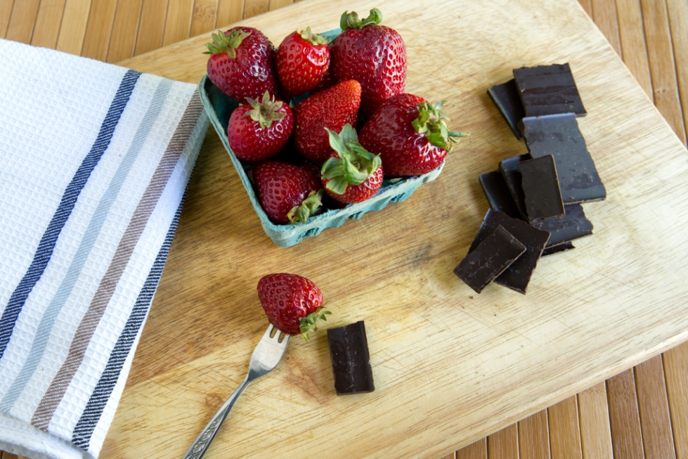 Strawberry and chocolate snack