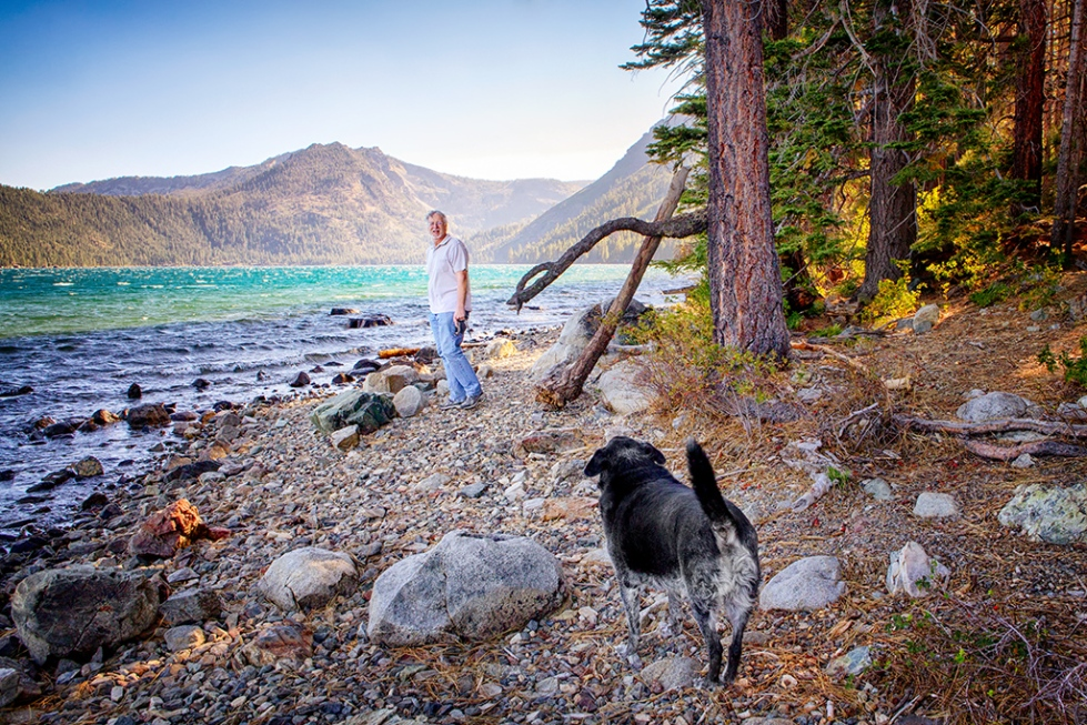 Yes!Chef! and Obie at Fallen Leaf Lake