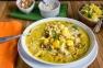 Mulligatawny Soup with condiments