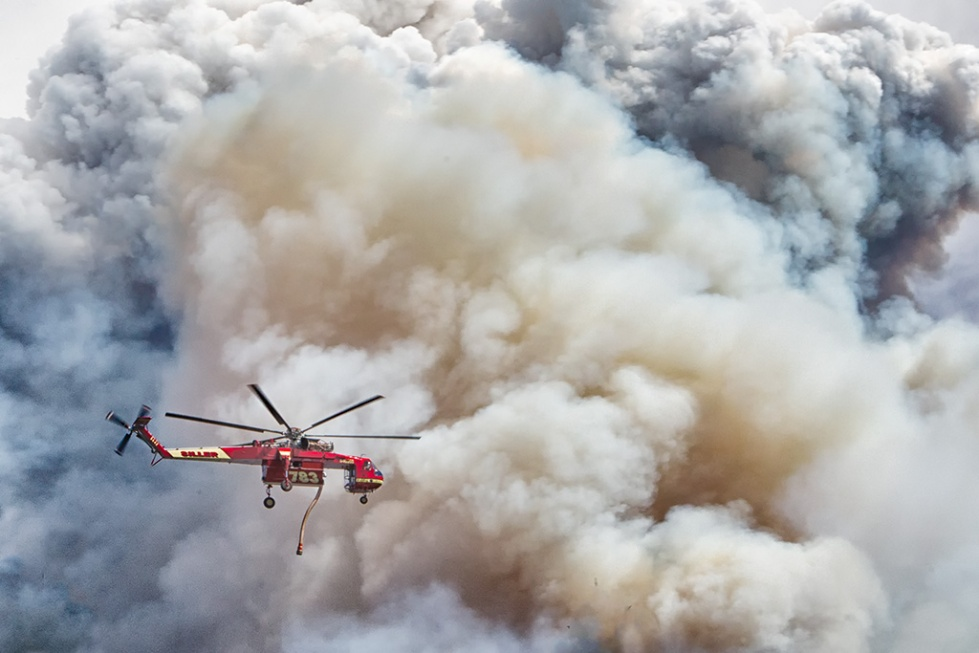 Fire fighting helicopter