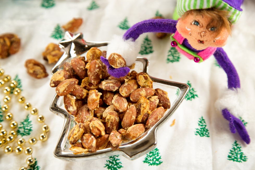 Parmesan Roasted Almonds and an elf
