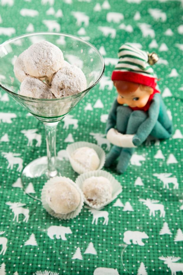 Elf contemplates goodness of Snowballs