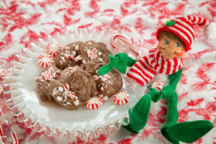 Peppermint Elf and Peppermint Chocolate Chip Cookies