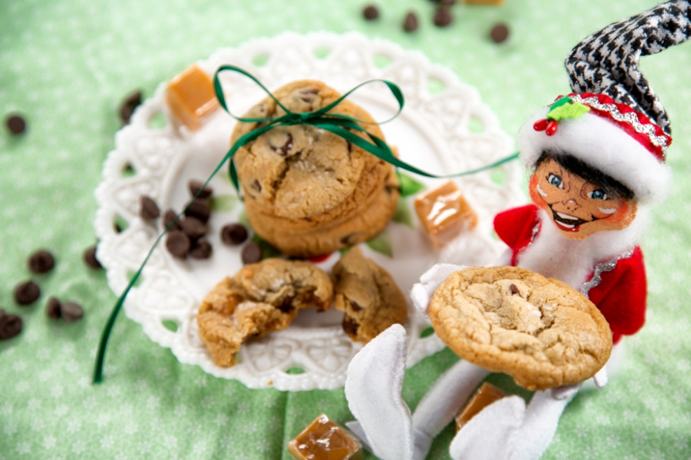 New elf loved the addition of caramel to one of his favorite Christmas Cookies