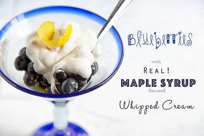 Blueberries Maple Whipped Cream 1