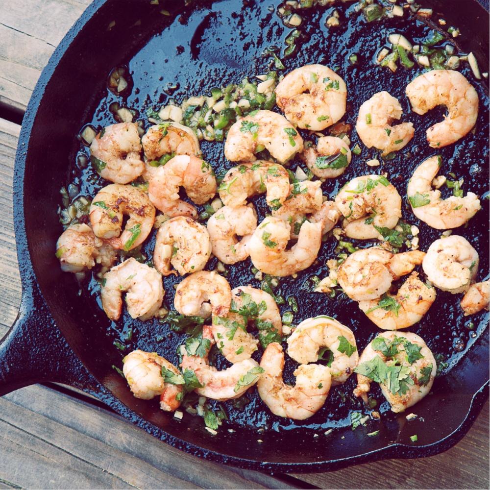 Shrimp ready to be eaten